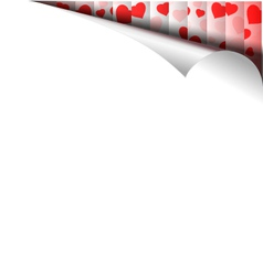 Paper Page With Hearts vector image vector image