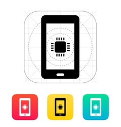 Phone CPU icon vector image