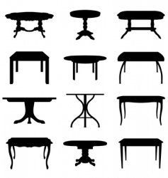 tables set vector image