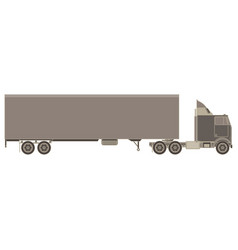 trailer truck and cargo container for shipping vector image vector image
