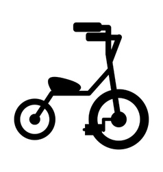 Baby tricycles simple icon vector