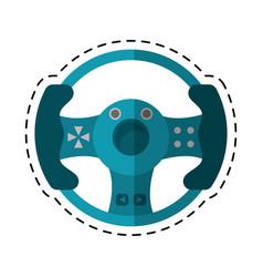 Cartoon steering wheel video game vector