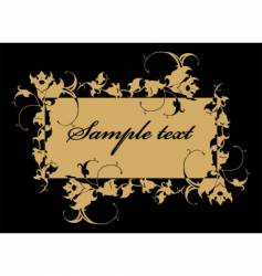 floral label vector image vector image