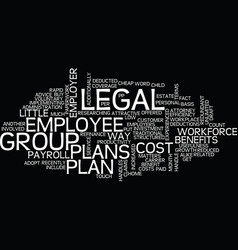 group legal plans benefits for employer and vector image vector image