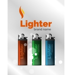 Lighter ad template vector