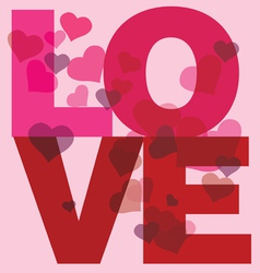 love message print vector image vector image