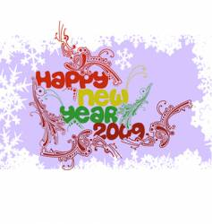 multicolored happy new year 2009 vector image
