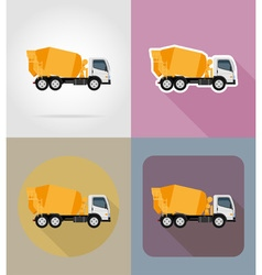 transport flat icons 24 vector image