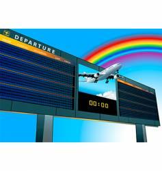 airport departure board vector image