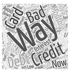 Credit card bad debt word cloud concept vector