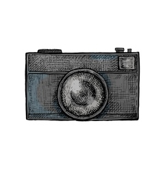 Hand drawn camera vector image vector image