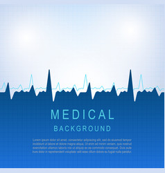 healthcare medical background with heart vector image