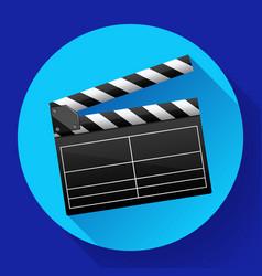 movie clapper board movie maker vector image vector image