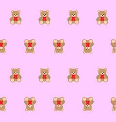 teddy bear kids seamless pattern vector image