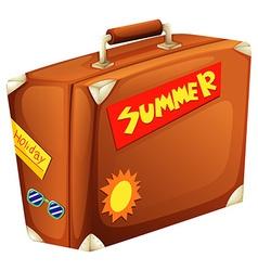 A big bag for a summer vacation vector