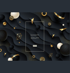 abstract background with black geometric shape vector image