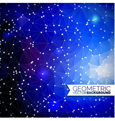 abstract geometric background triangle design vector image