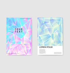 Abstract posters covers triangular hologram design vector