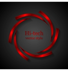 Abstract red metal logo design vector image