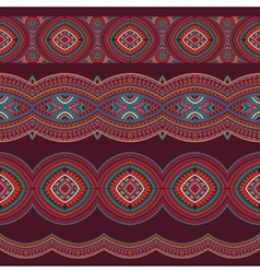 Abstract tribal stripes background set vector image