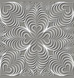 Arabic swirl line ornament oriental floral vector