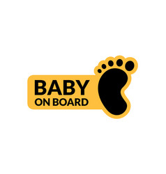 Baby on board sign icon child safety sticker vector