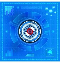 Biometric technology eye vector