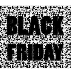 black friday words on special shopping background vector image