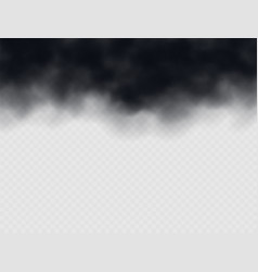 black smoke cloud stormy weather air pollution vector image