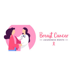 Breast cancer awareness health concept banner vector