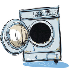broken washing machine vector image