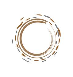 brown ink brush zen symbol vector image