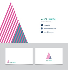 Business card template with a letter vector