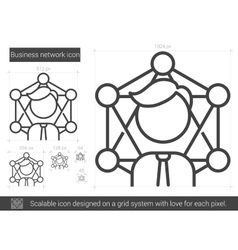Business network line icon vector