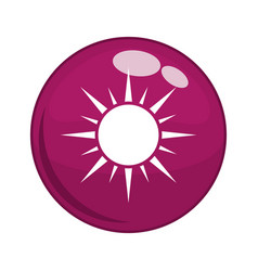 button with sun icon vector image