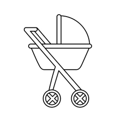Cart baby isolated icon vector
