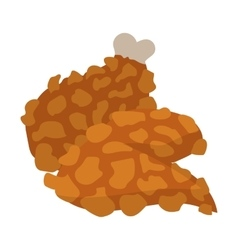 Chicken legs in cartoon style vector image