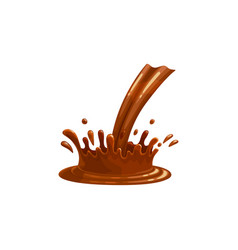 chocolate pour and splash liquid drops flow vector image
