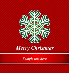 Christmas background and snowflakes vector image vector image
