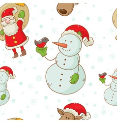 christmas figures seamless white vector image