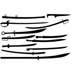 cold steel set vector image