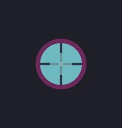 Crosshair computer symbol vector