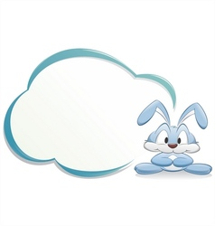 Cute cartoon bunny with frame vector