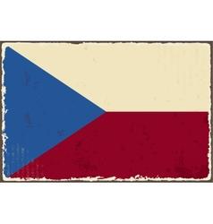 czech republic grunge flag vector image