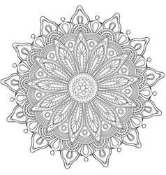 Decorative flower round ornament vector