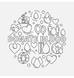 Donate blood round vector