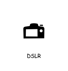 Dslr camera flat icon vector