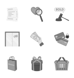 E-commerce set icons in monochrome style Big vector image vector image