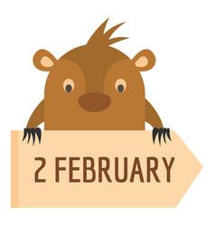 february icon flat style vector image