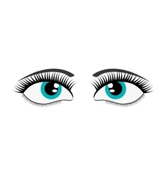 female cartoon eyes icon vector image